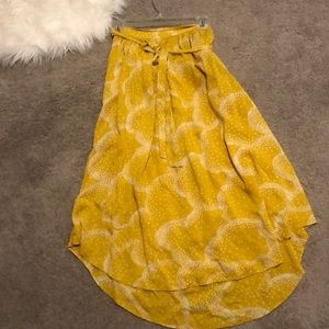 Mustard skirt from Anthropologie